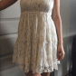 Lace styled white dress d pink and lace