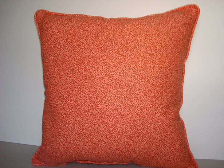 Pillows Decorative Designer Pillows Orange Print Design