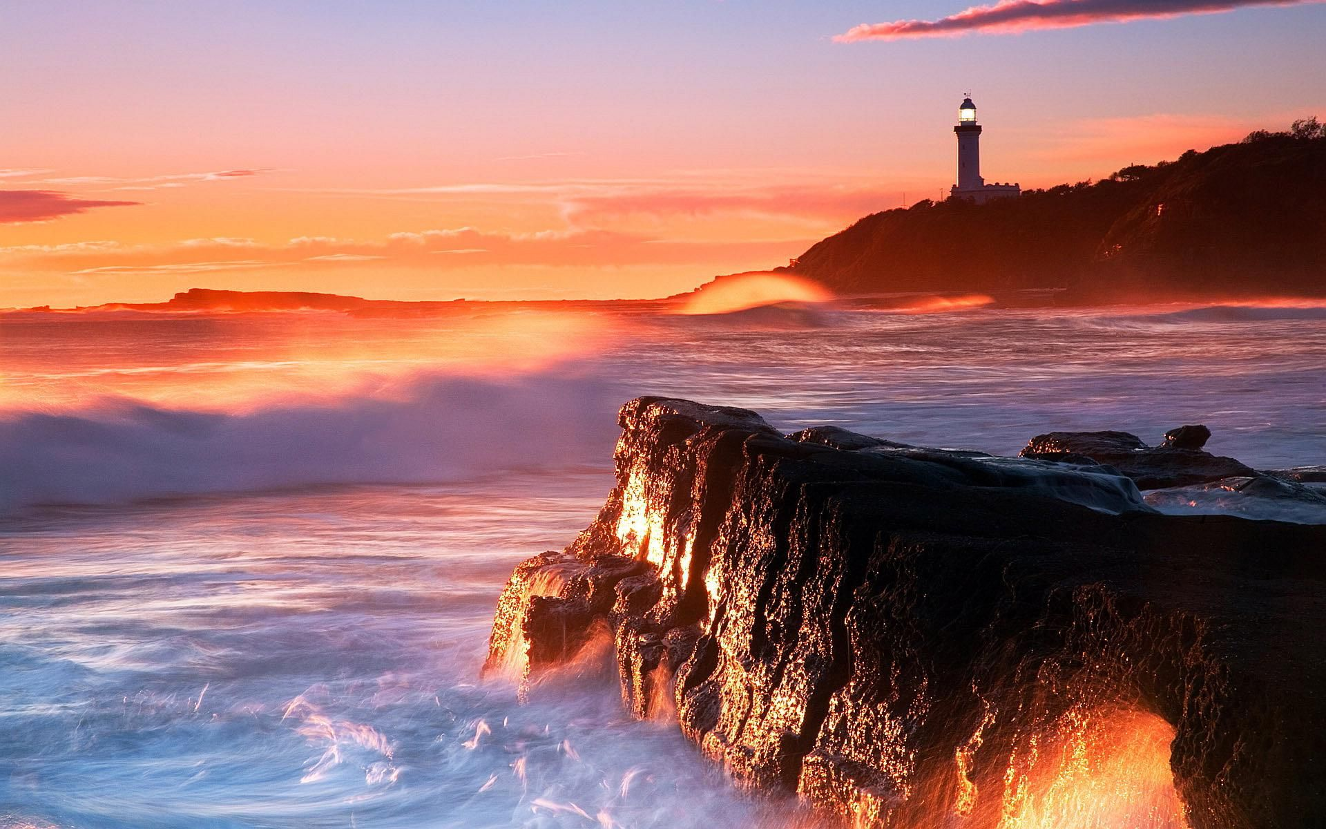 lighthouse sunset wallpaper : get free top quality lighthouse
