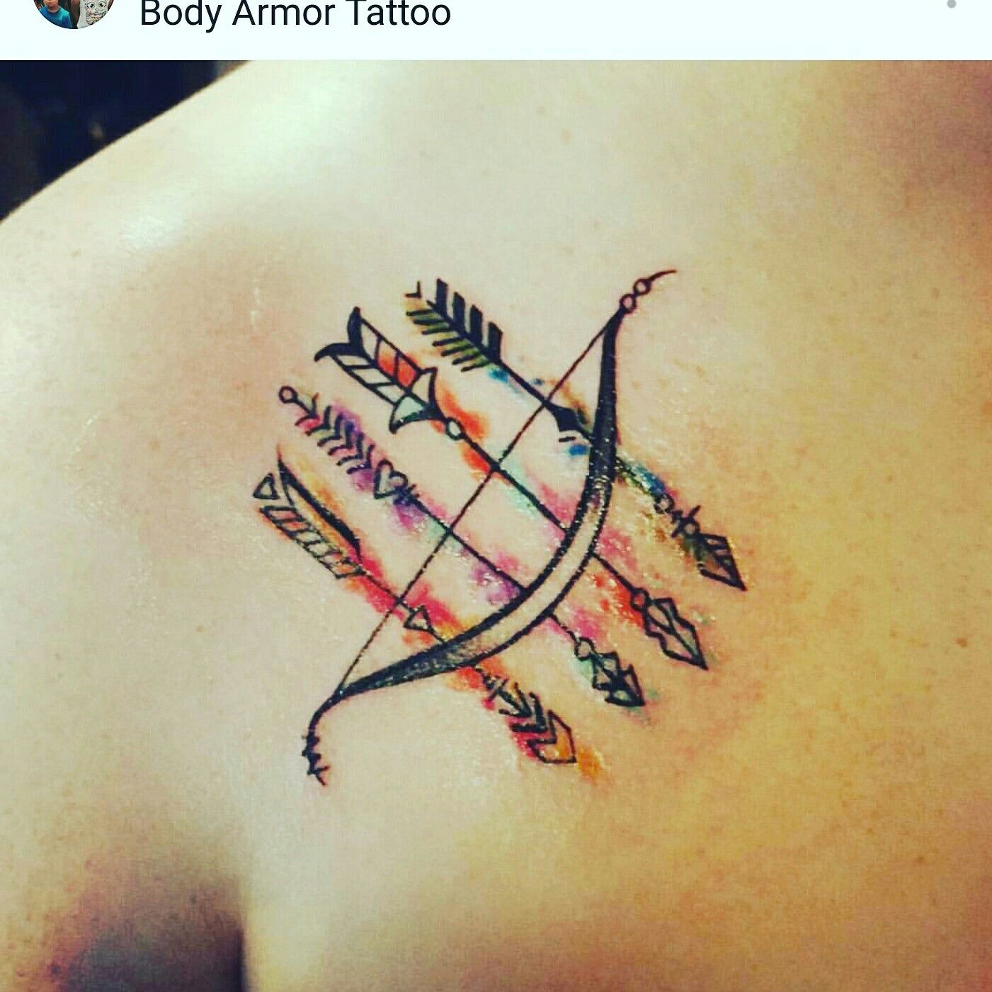 Love my new arrow tattoo. Represents each family member all headed in the same direction with the same focus and goals.