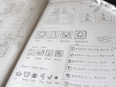 Creative Examples of UI and Wireframe Sketches   Wireframes and     Creative Examples of UI and Wireframe Sketches