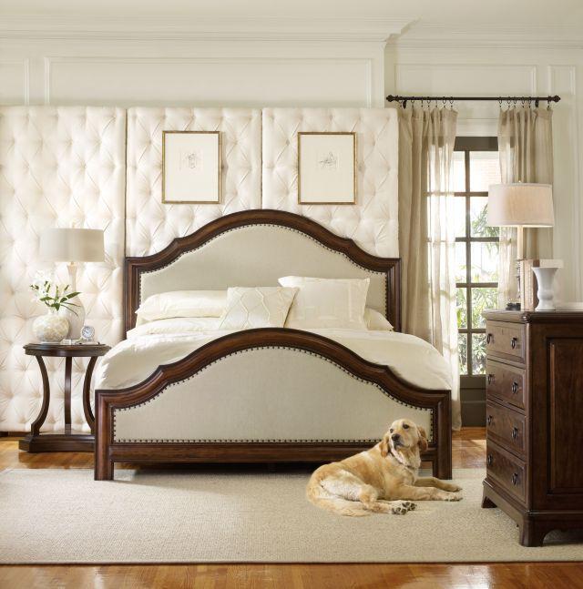 Hooker furniture master bedroom upholstered bed wood bed queen