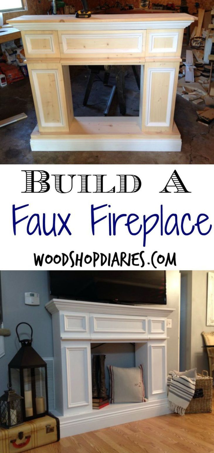 Build your own faux fireplace with hidden storageDIY fake
