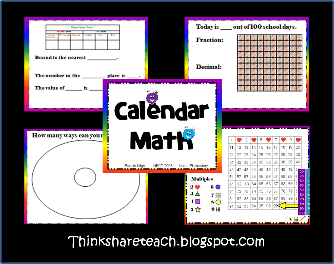 Here S A Great Set Of Ppt Slides And Handouts For Calendar Math In A 4th Grade Classroom