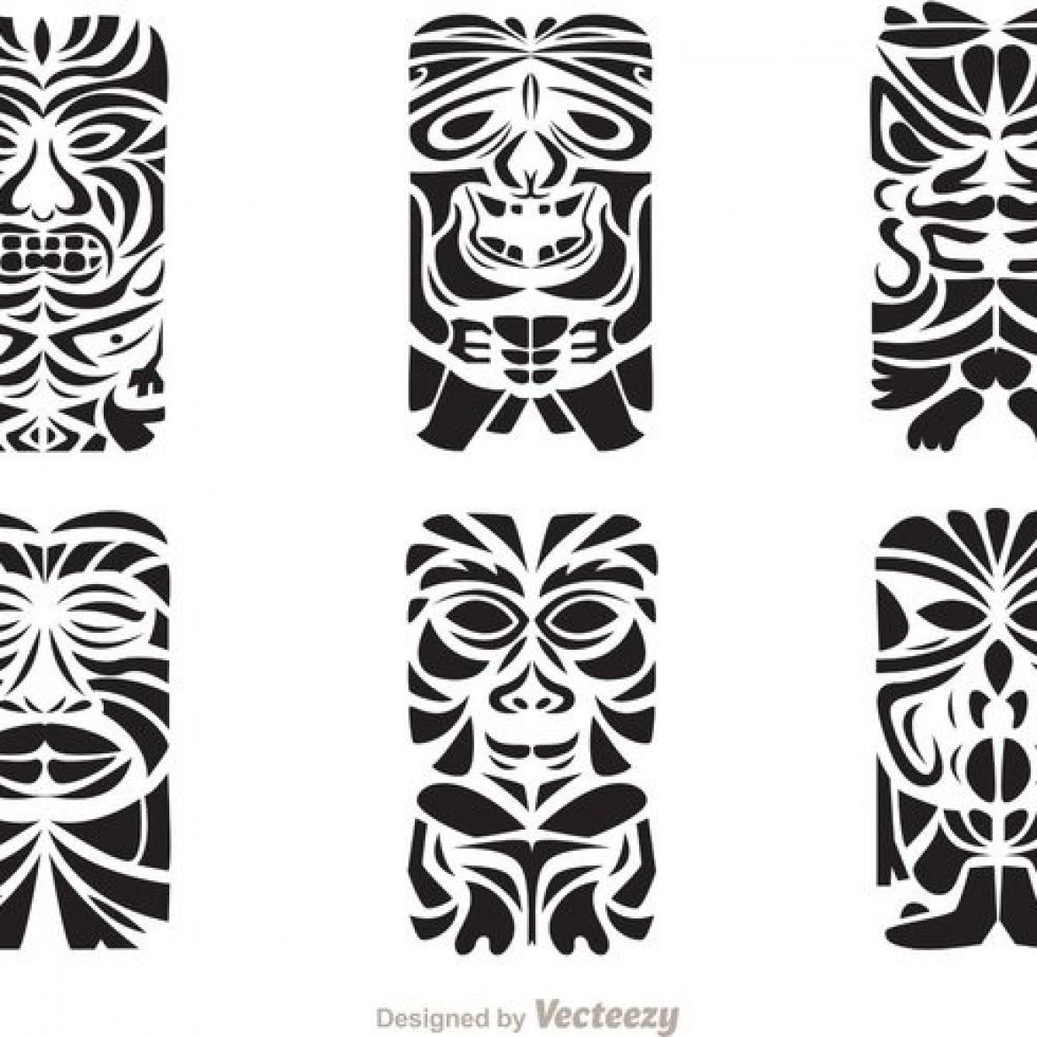 Free Vector Tiki Totem Hawaiian Tribal Vectors
