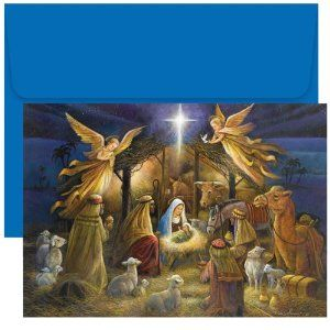 Beautiful Religious Christmas Holy Scene Religious