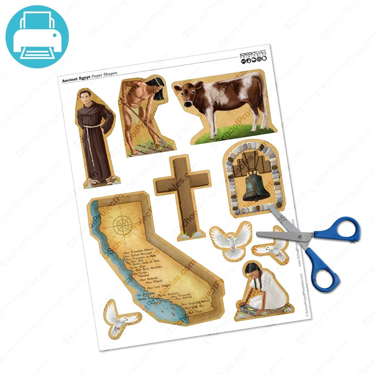 California Missions Project Icons