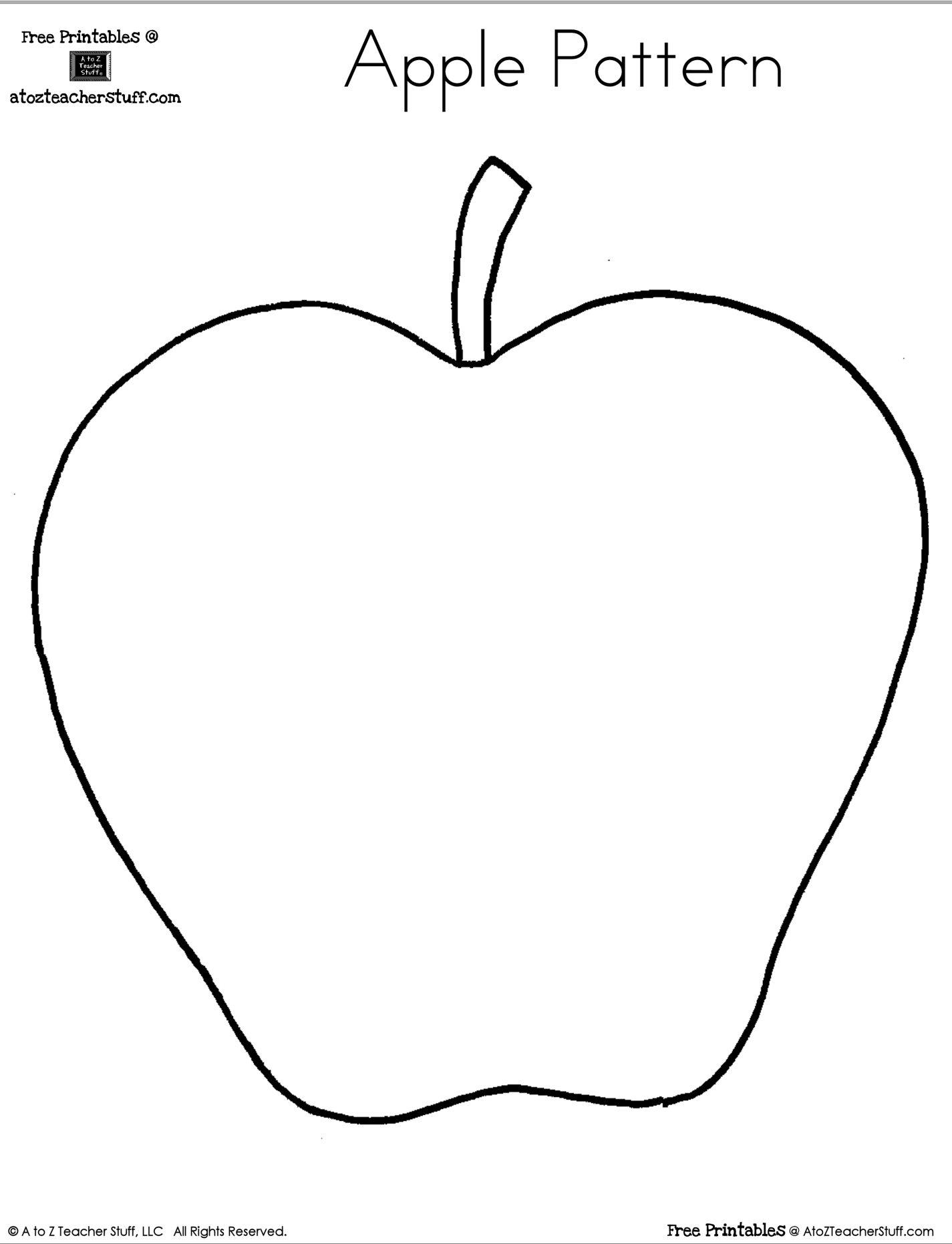 Apple Shape Worksheets