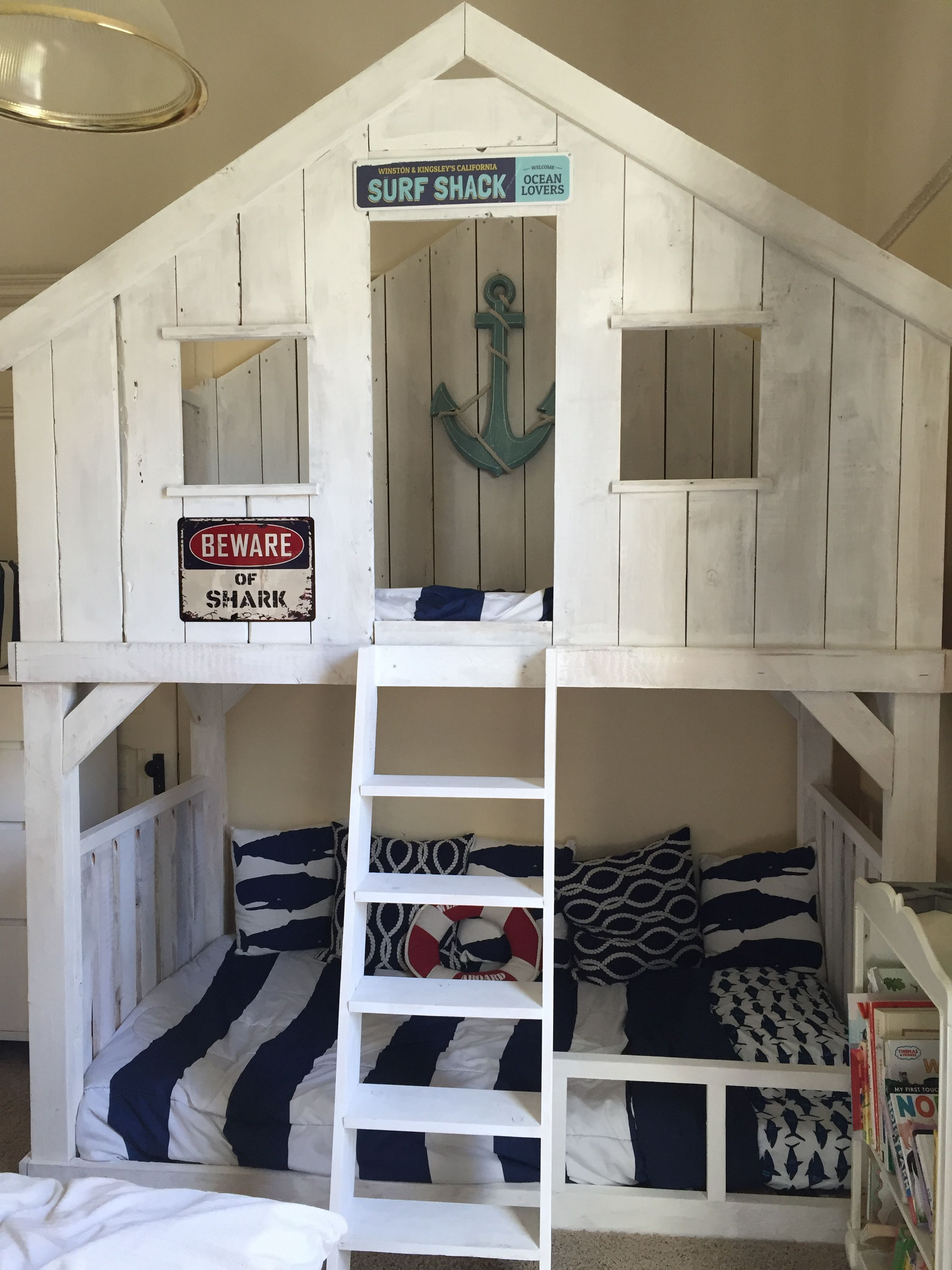Surf Shack Bunk Bed Using Club House Bed Plans