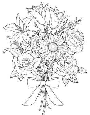 Image result for flower bouquet drawing