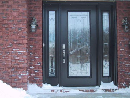 Bricks Exterior Front Doors