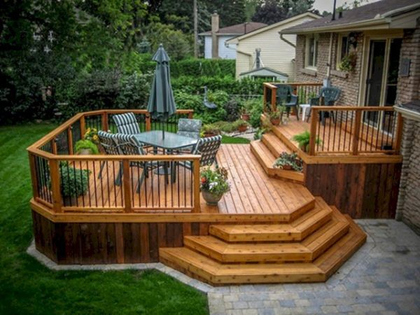 deck and patio ideas for small backyards Cool Backyard Deck Design Idea 19 | Backyard deck designs