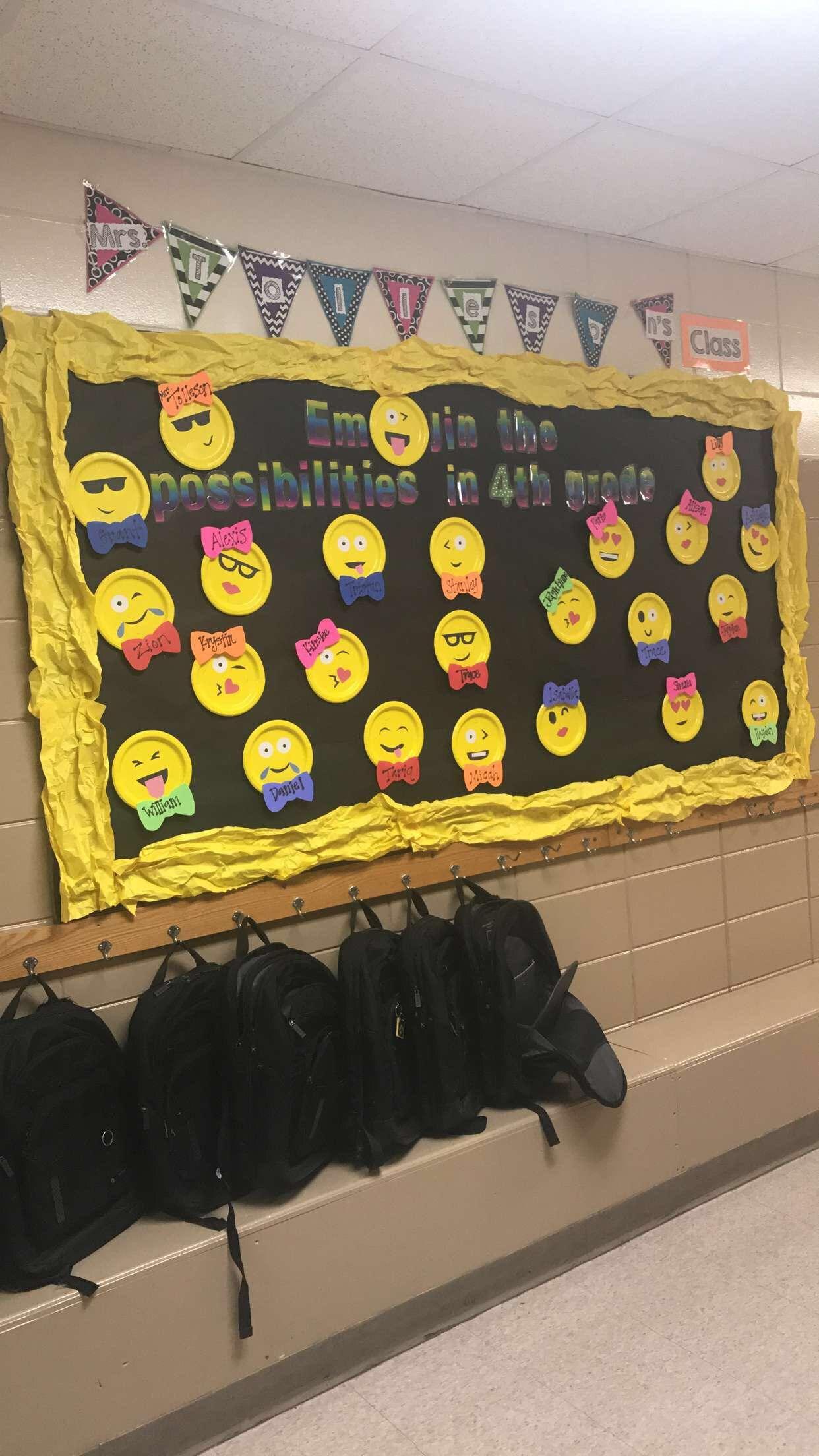Emoji Bulletin Board Back To School