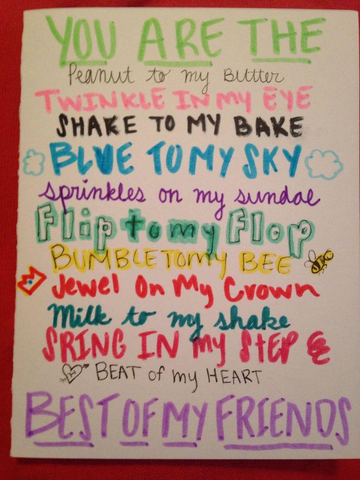 Best friend birthday card Helpful hints Pinterest Friend