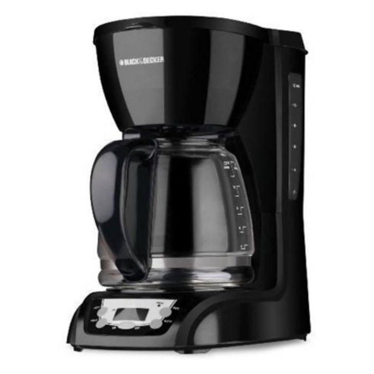 Black u Decker DLXB Cup Programmable Coffeemaker Black