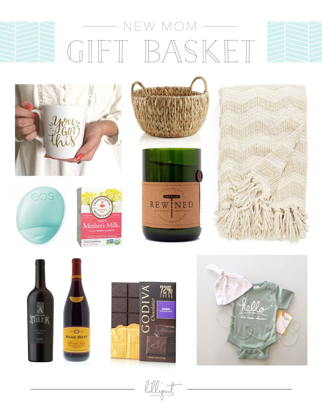 Diy new mom gift basket gift and babies