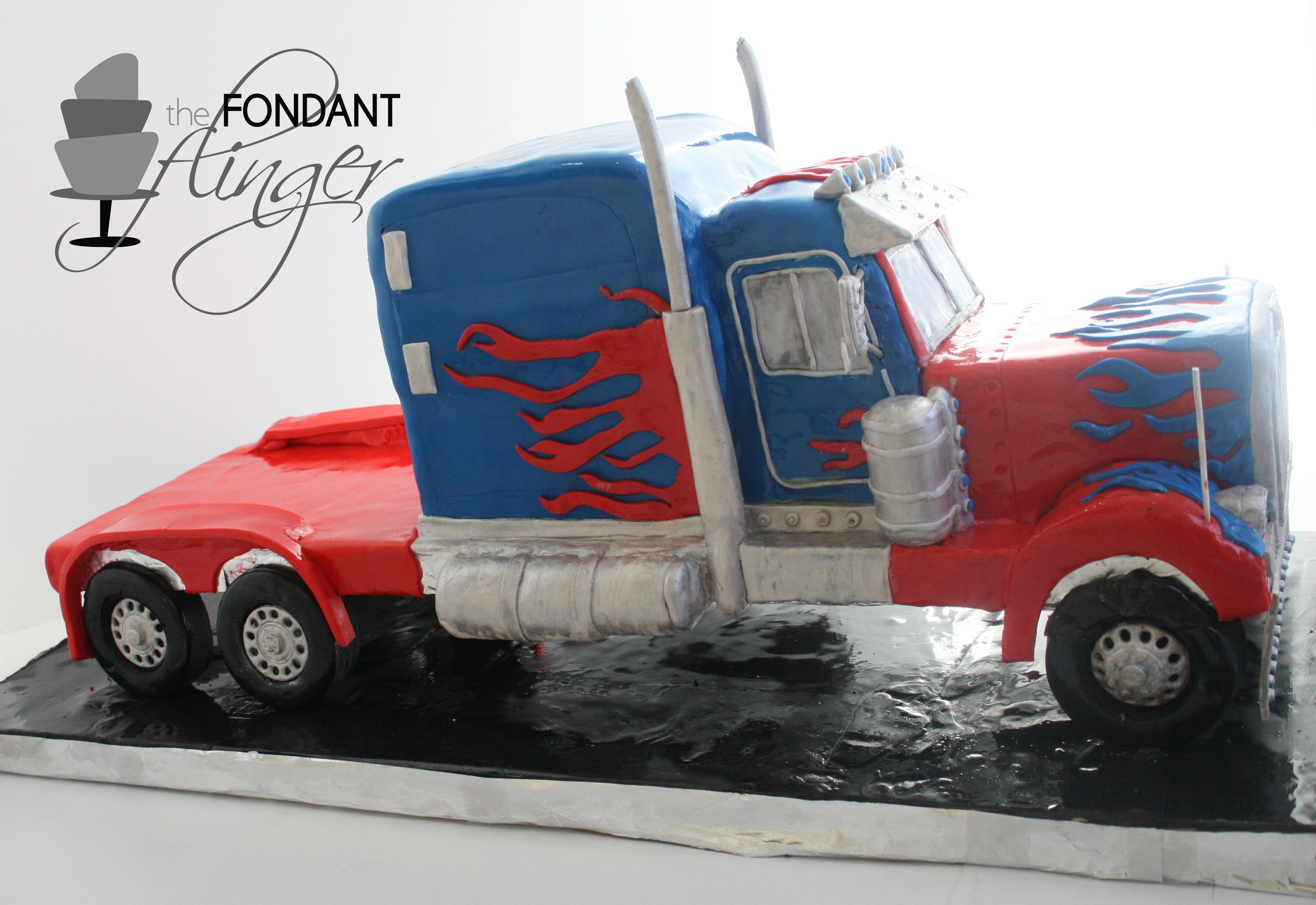 Diy Tutorial Truck Cake Covered In Fondant Great For A
