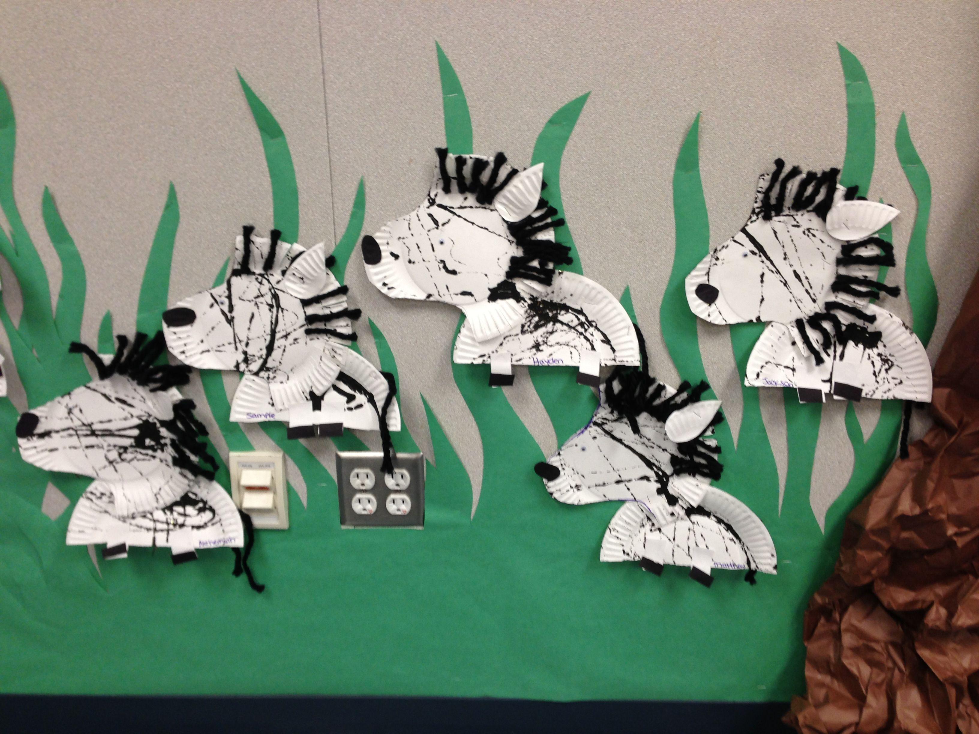Zebra Craft For Preschool Or Kindergarten Plates Were