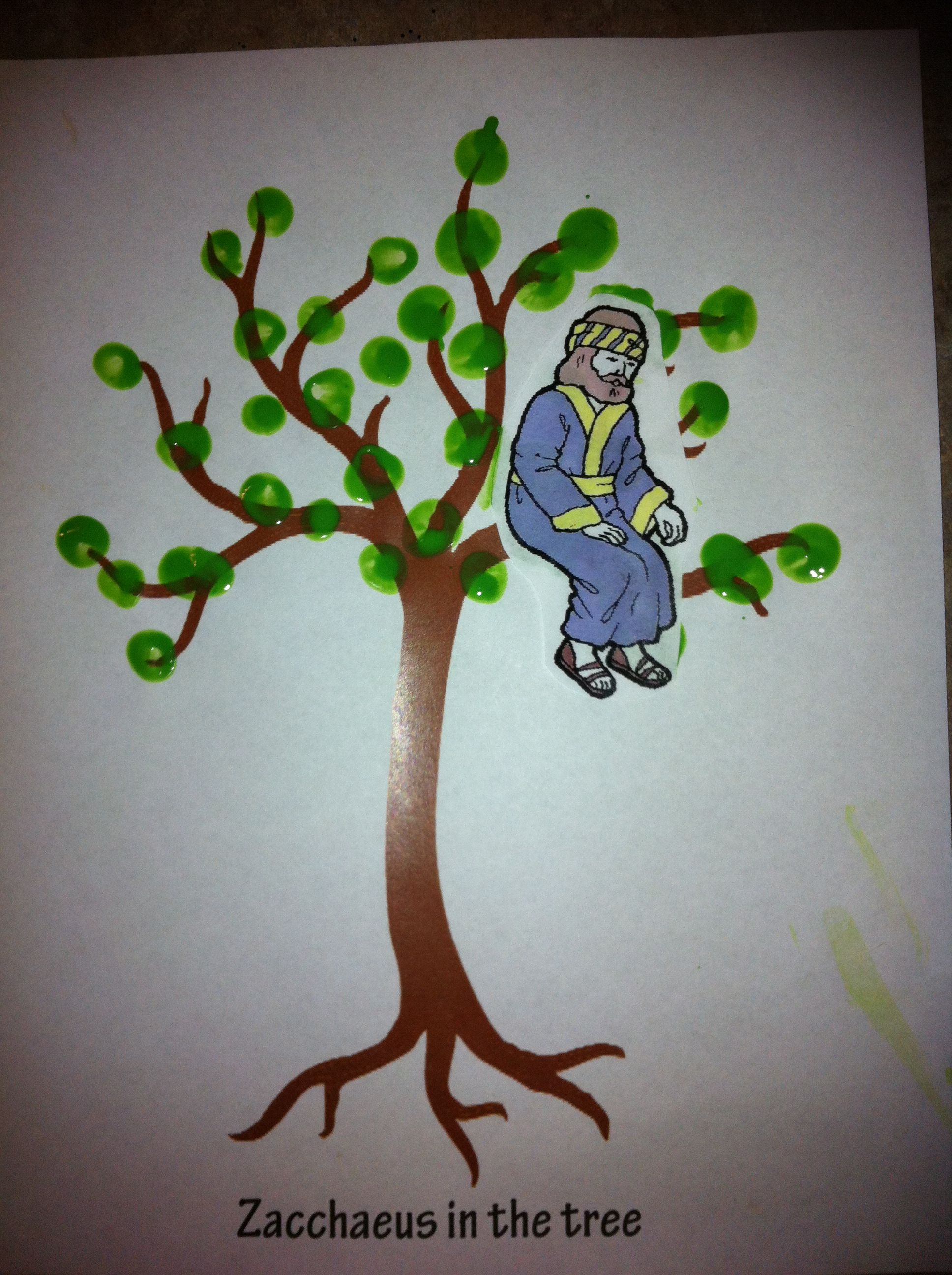 Zacchaeus In The Tree Craft Printed Bare Tree Online And
