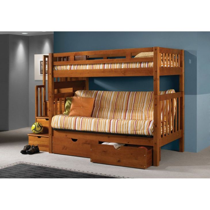 Stairway Loft Bunk Bed with Storage Drawers Bedroom Choices
