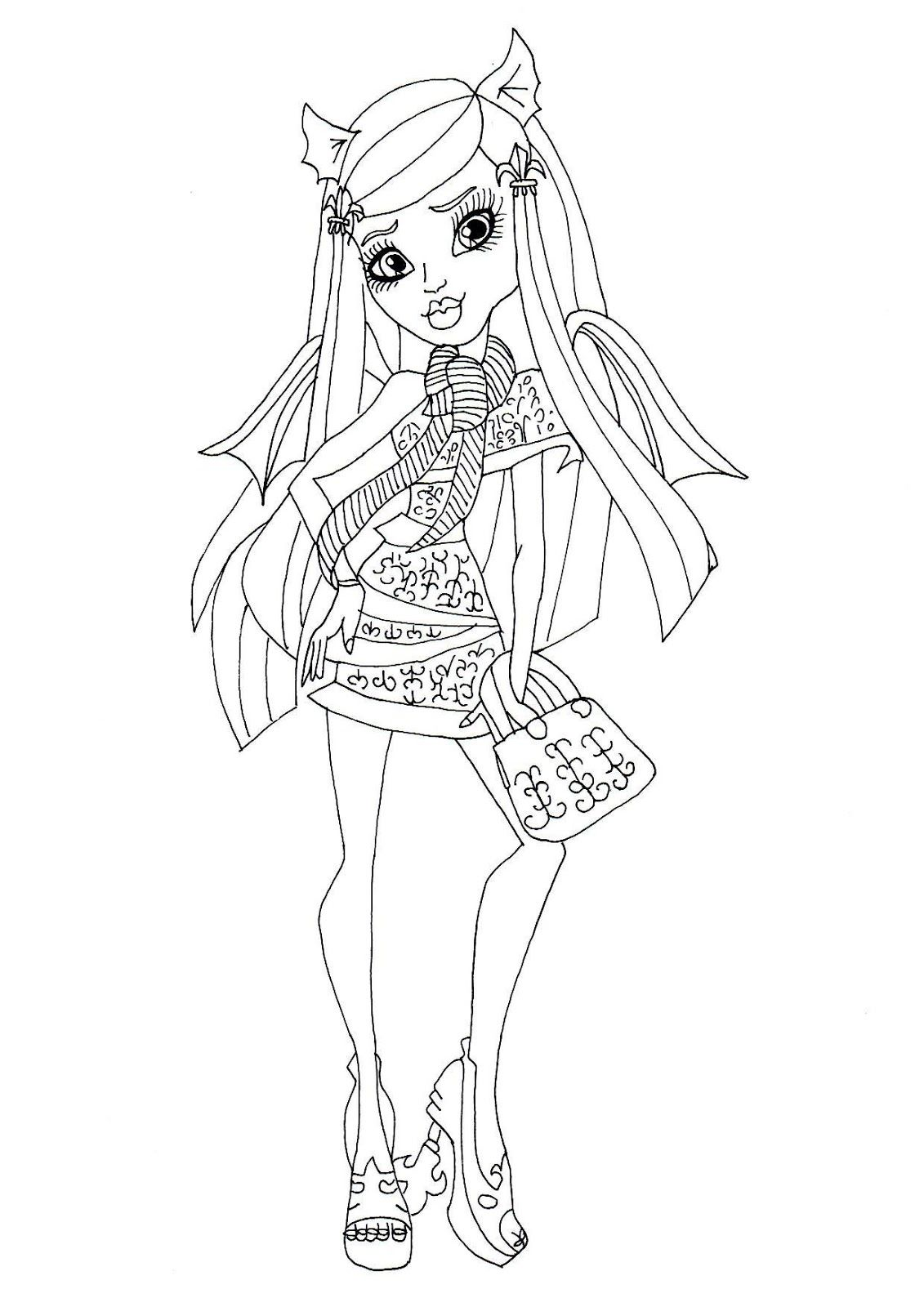 Belle Monster High Catty Noir Coloriage