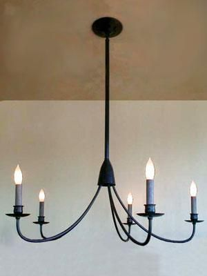 Lighting Simple Candle Chandelier