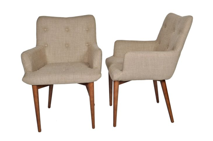 Lovely Set of  Elegant Tufted Cynthia Dining Chairs  Shopify
