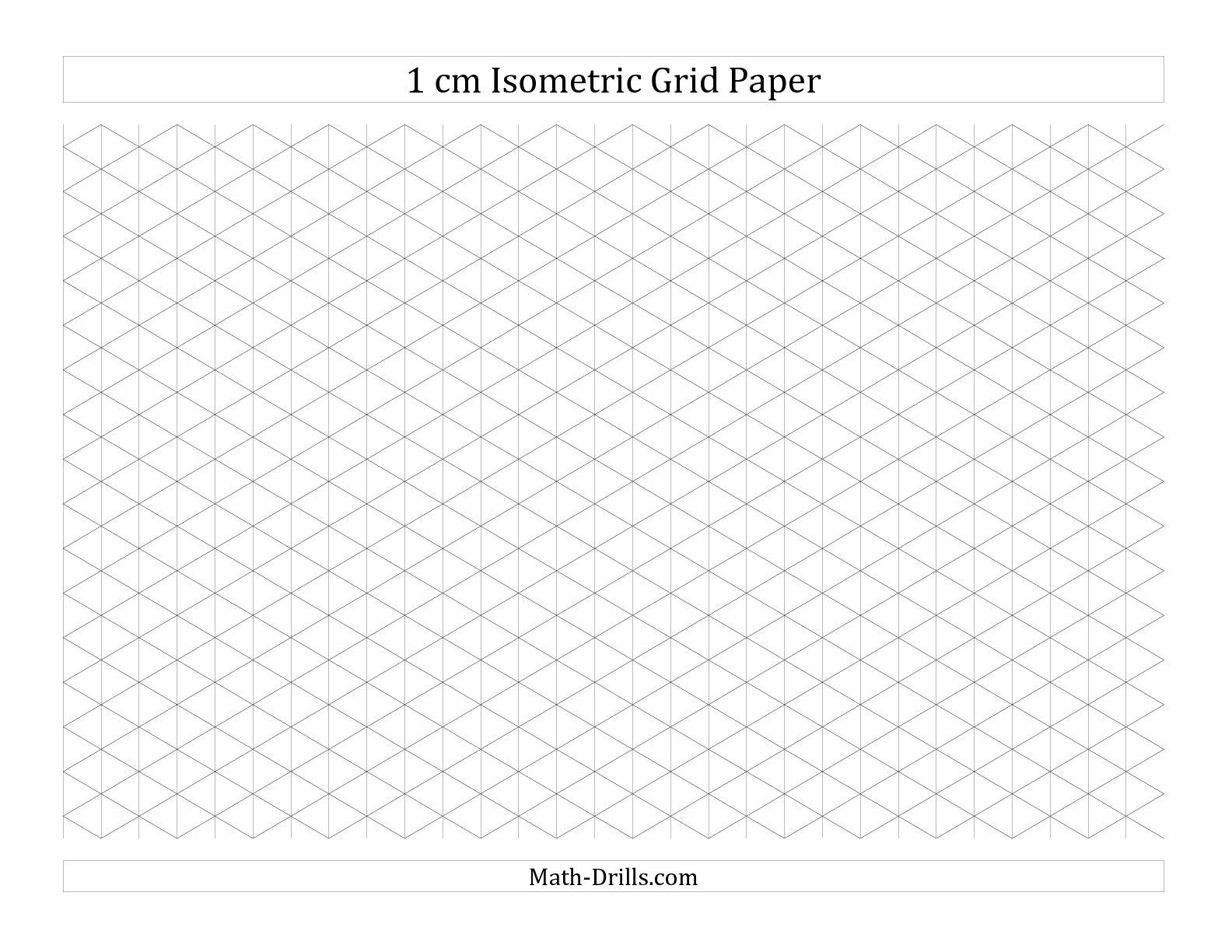 1 Cm Isometric Grid Paper Landscape A Math Worksheet Freemath