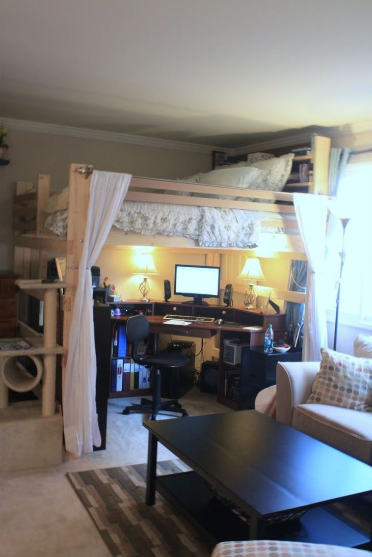 Small Space Family Living on Pinterest  Loft Beds Double Loft Beds