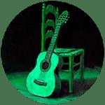 Guitarra andaluza como icono de la sección flamenco