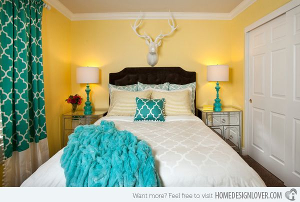 15 gorgeous grey, turquoise and yellow bedroom designs | vegas
