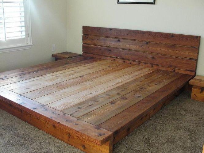 Rustic Bedding King Platform Bed 100 Cedar Wood