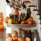 Give visitors a playfully spooky welcome with halloween decor from