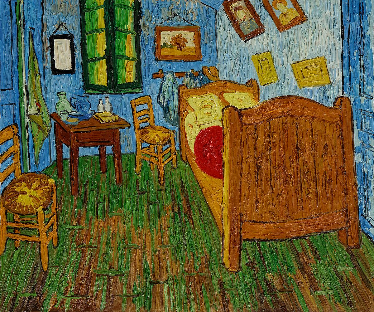 roy lichtenstein - bedroom at aries compare to van gogh | kid art