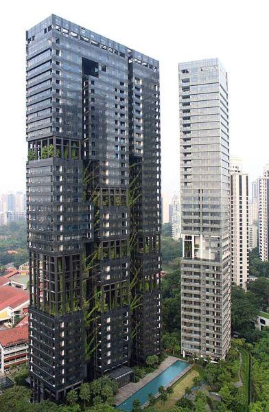 vertical garden skyscraper Vertical garden designed for Jean Nouvel apartment in