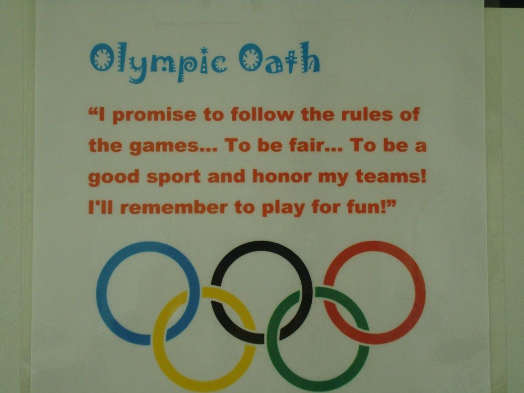 Olympic Preschool Games Worksheet