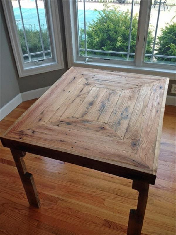 how to make a kitchen table out of pallets