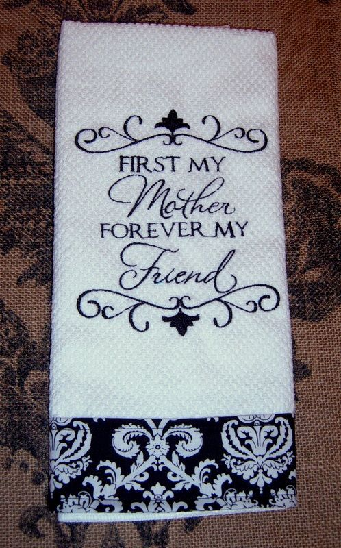 Kitchen Towel, Mother's Day Gift, Machine Embroidery ...