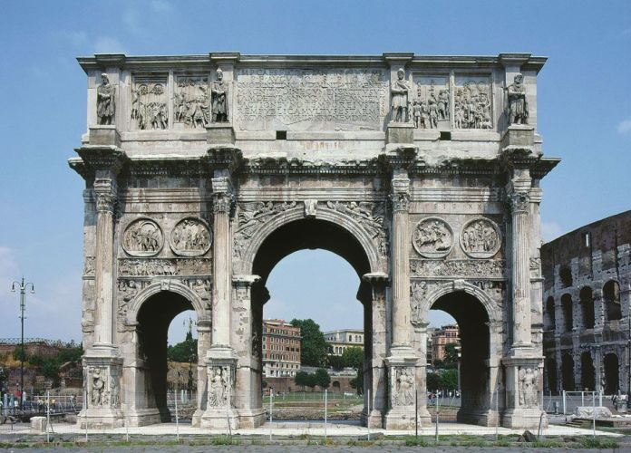 Image result for Arch of Constantine, Rome, Italy