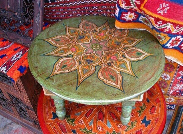 painted table bohemian decor pinterest painted tables lifestyle and hippie style on boho chic kitchen table id=62449