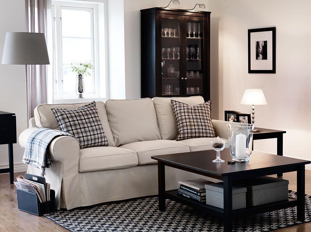 Ein Wohnzimmer Mit Ektorp 3er Sofa Mit Bezug Tygelsjo In