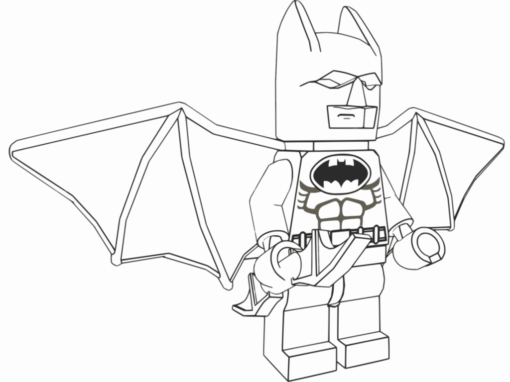 Lego Batman Coloring Pages Printable