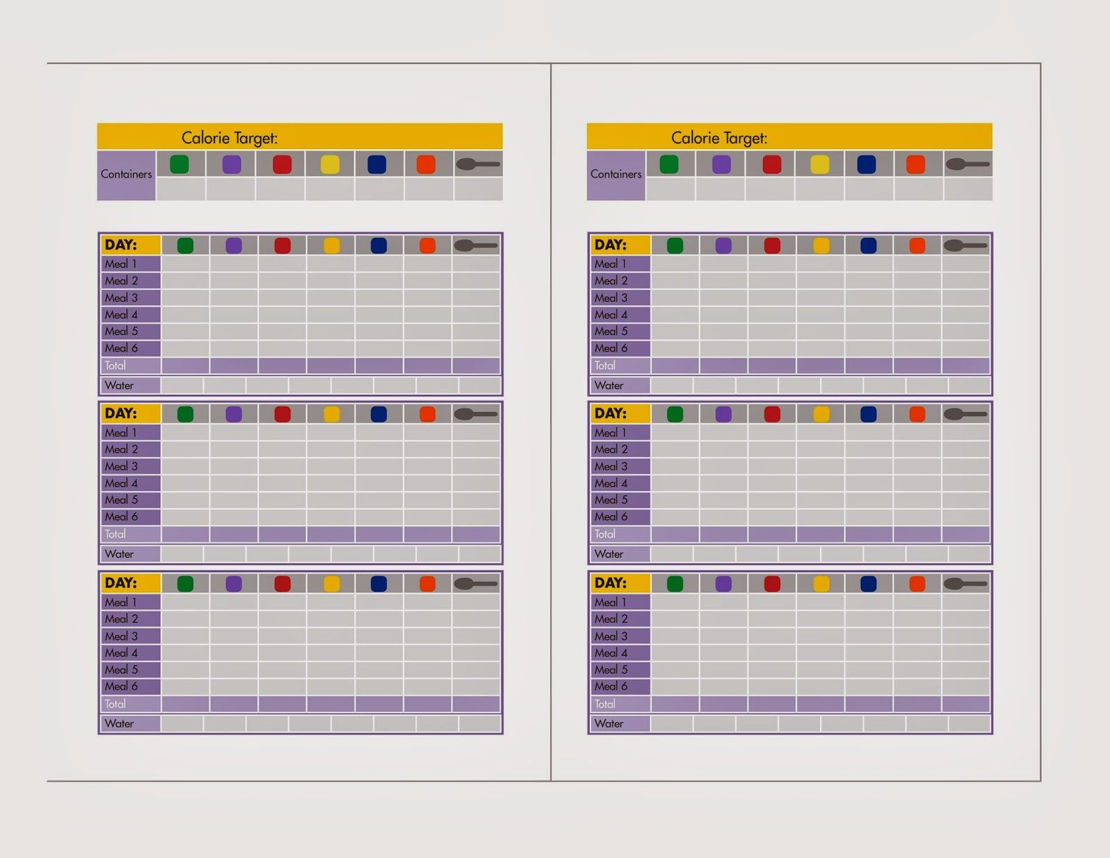 Fix 21 Day Meal Plan Template