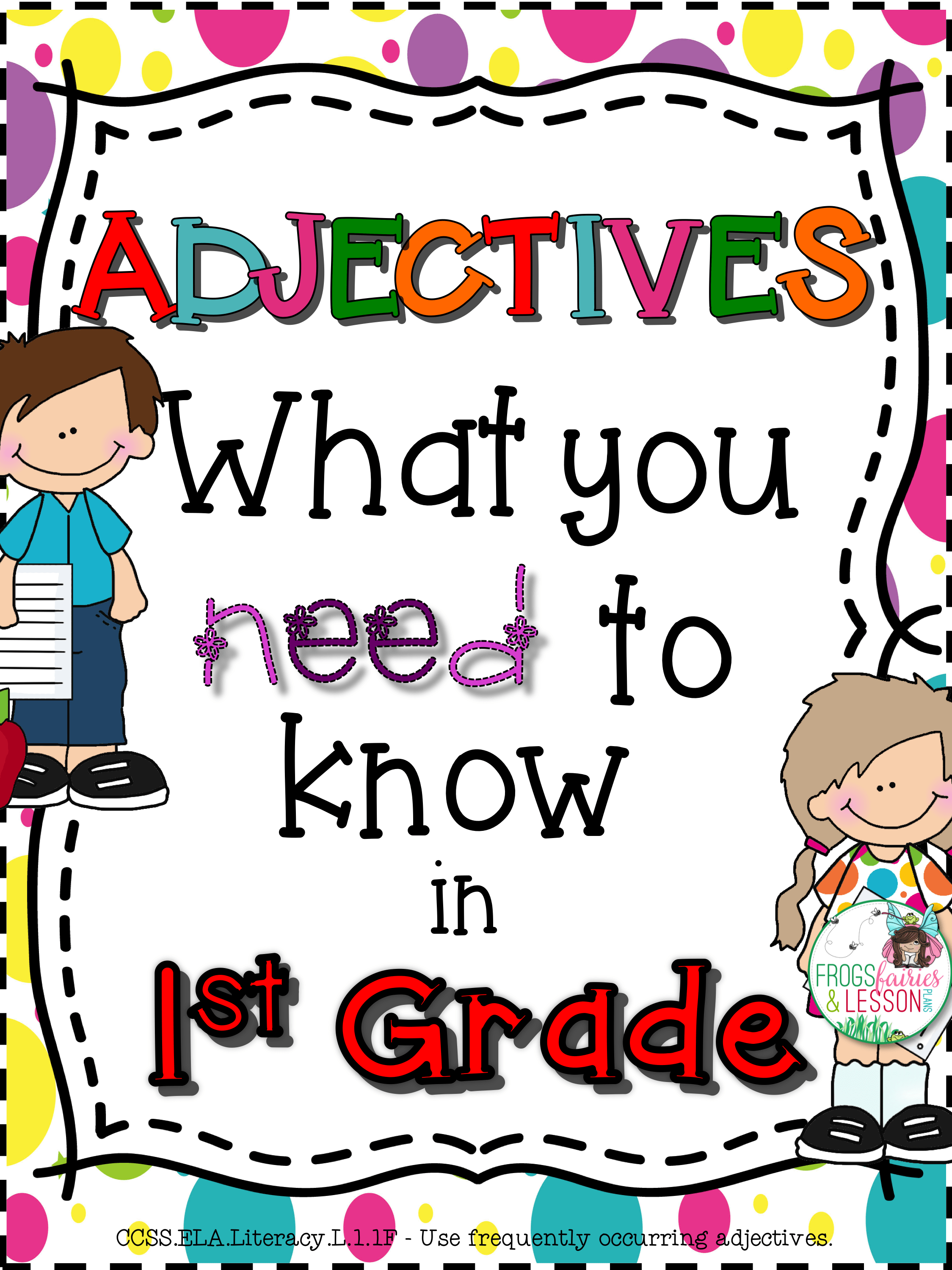 First Grade Adjectives