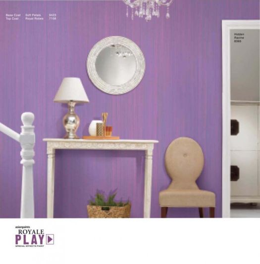 Asian Paints Royale Play Special Effect For Home Wall Decoration With Royal Color 448