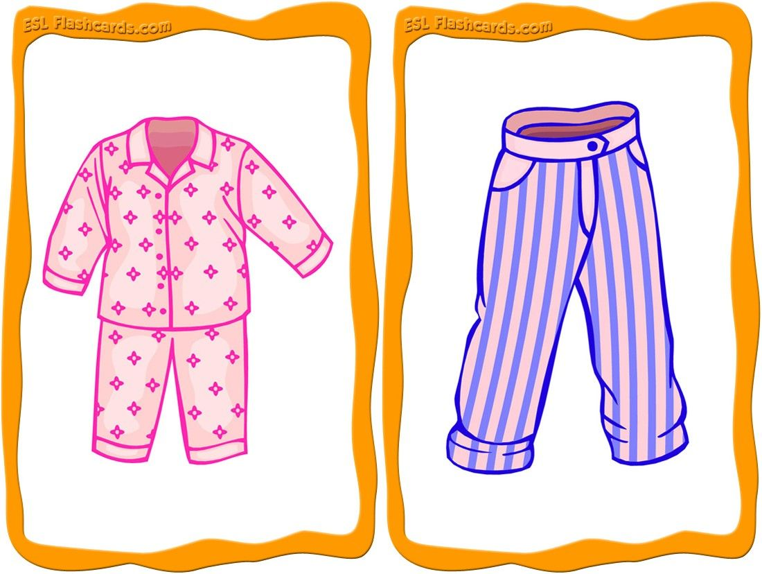 32 Clothes Flashcards For Teaching Simple Clothing