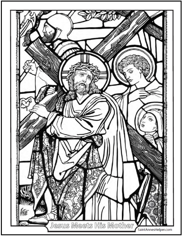 rosary coloring pages the mysteries of the rosary