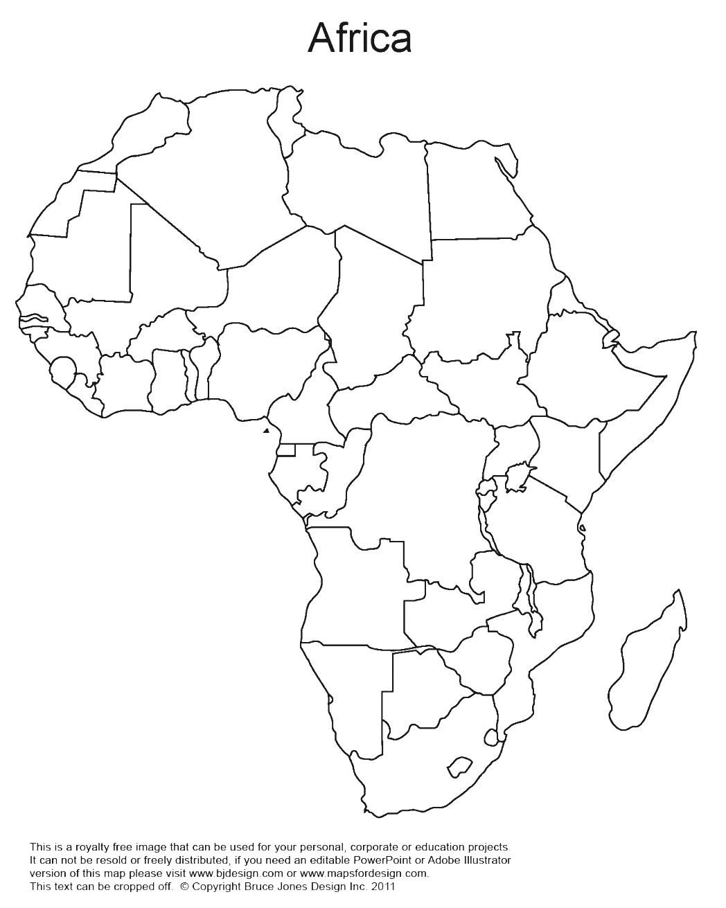 World Regional Printable Blank Maps Royalty Free Map With Countries And Capitals Africa