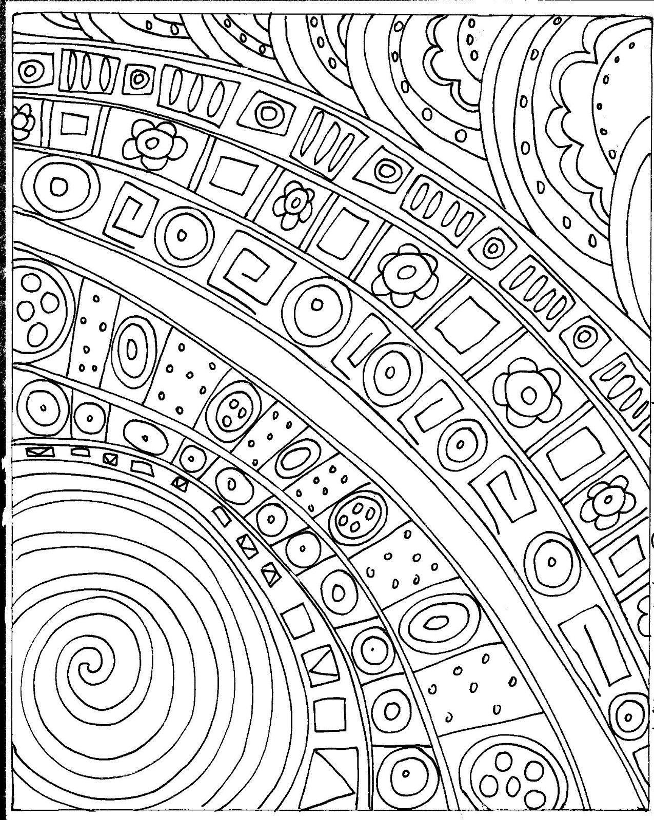 Rug Hooking Paper Pattern Carnival Abstract Folk Art