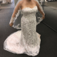 Wedding dress preservation box  Embroidered Wedding Dress  Lace overlay Bustle and Size